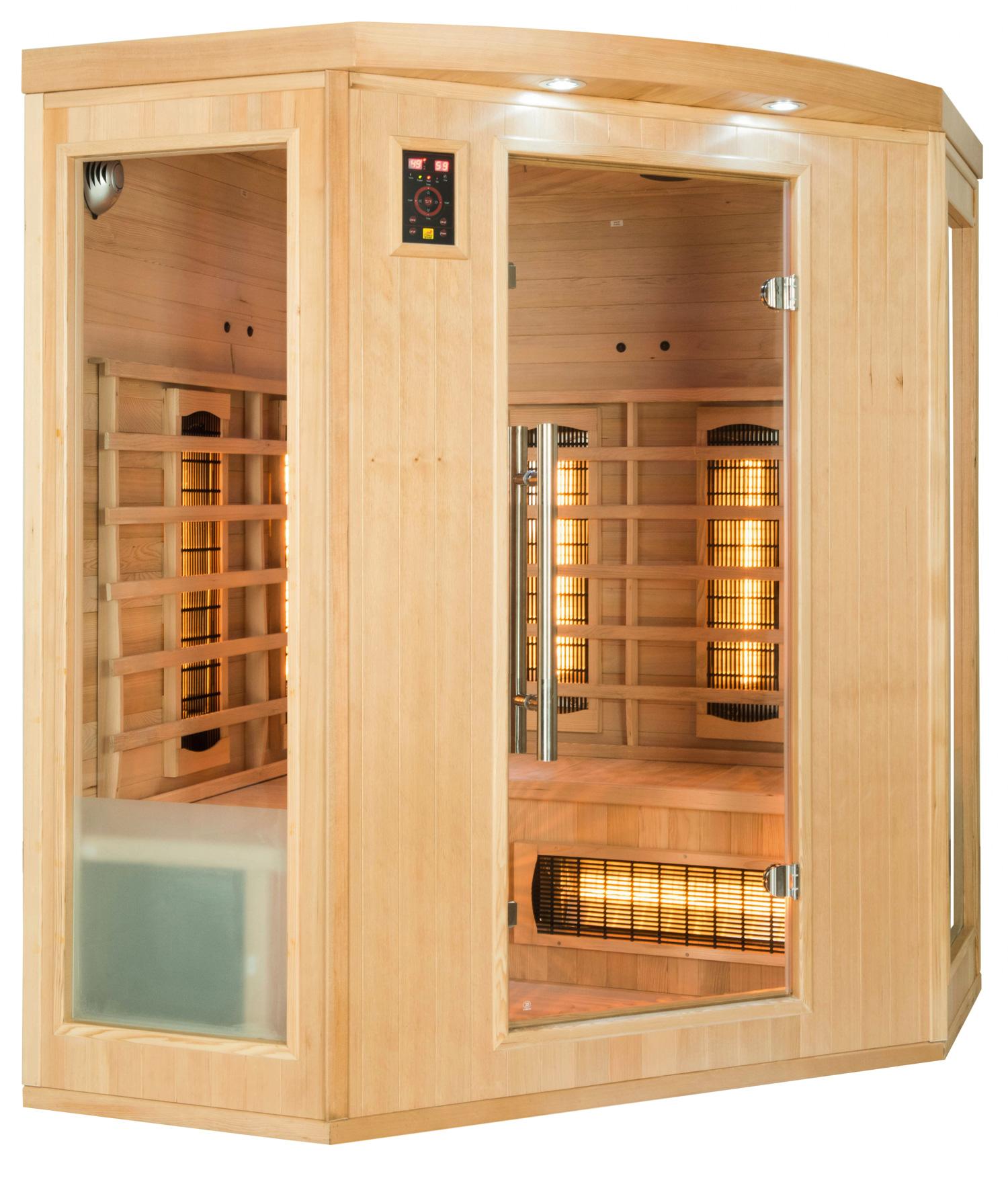 3//4 Personen France Sauna Infrarotkabine APOLLON