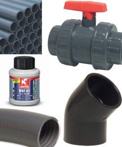 PVC Fittings, Rohre und Kleber